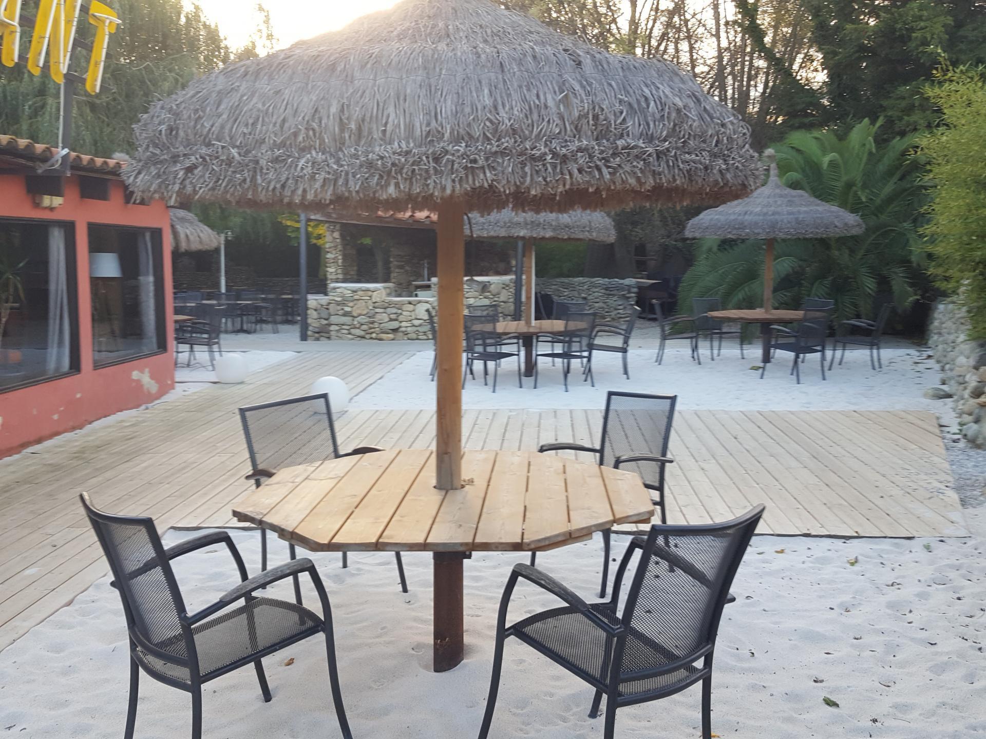 Tables dans le sable