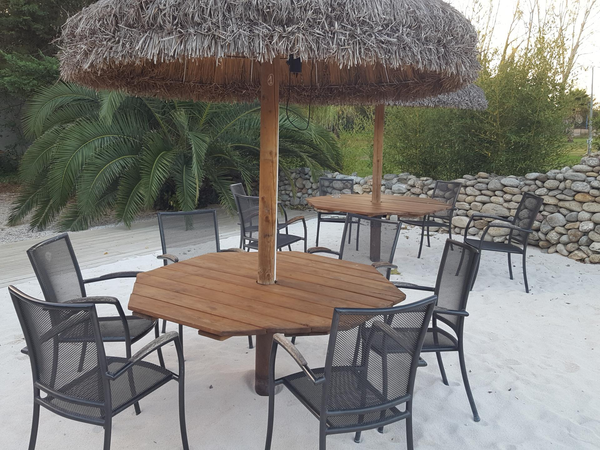 Tables dans le sable Are Y Sem